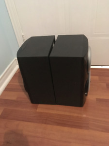 Rca Rs2620 Pair Of Powered Sound System Stereo Speakers