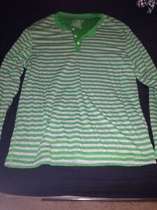 Green and Grey Button Down Shirt (XL) - WORN ONCE!