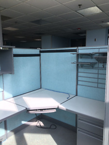 REDUCED -Haworth Office Cubicles with built in workstations