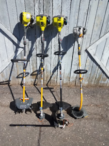 Ryobi 4 Cycle and 2 Cycle power heads plus attachments