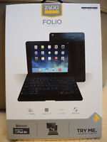 Brand New ZAGG folio Tablet BACKLIT Keyboard Case for iPAD Air