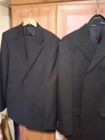 2 Mens Pinstripe Suits