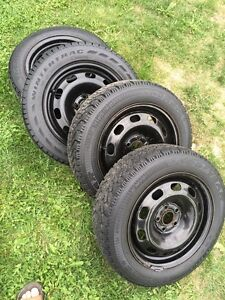 Winter Tires on Rims $200 Kawartha Lakes Peterborough Area image 1