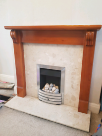 Wooden mantlepiece