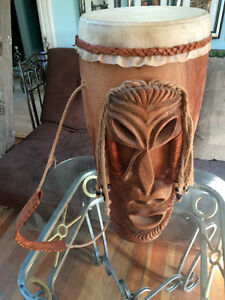 Hand carved drum