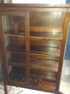 Antique plate display cabinet