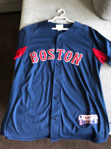 """MENS """"M"""" RED SOX JERSEY - BLUE"""