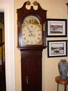 Antique English Grandfather Clock-Warranty-Delivery-set up incl.