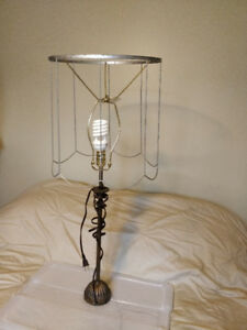 Lamp shade metal frame and base