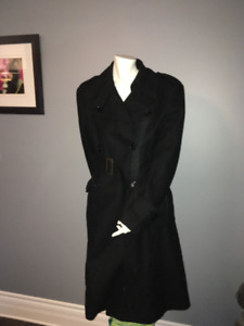 Long Black Dress Coat Suzy Shier Size LARGE