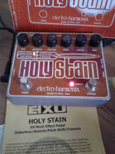E.H.X.   U.S.A.    Holy Stain   Multi Effects Pedal $80