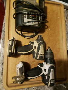 Makita impact compact and charger up for trade DeWalt