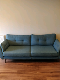 DFS French Connection Zinc sofas and love chair