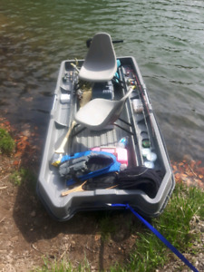 Bass Boat 2 seat Motor and Batteries NEW