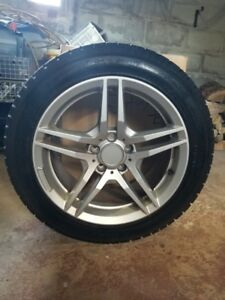 USED ONLY ONE SEASON Four Winter Tires 225/50R17 and Rims