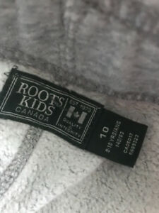 Roots track pants size 10