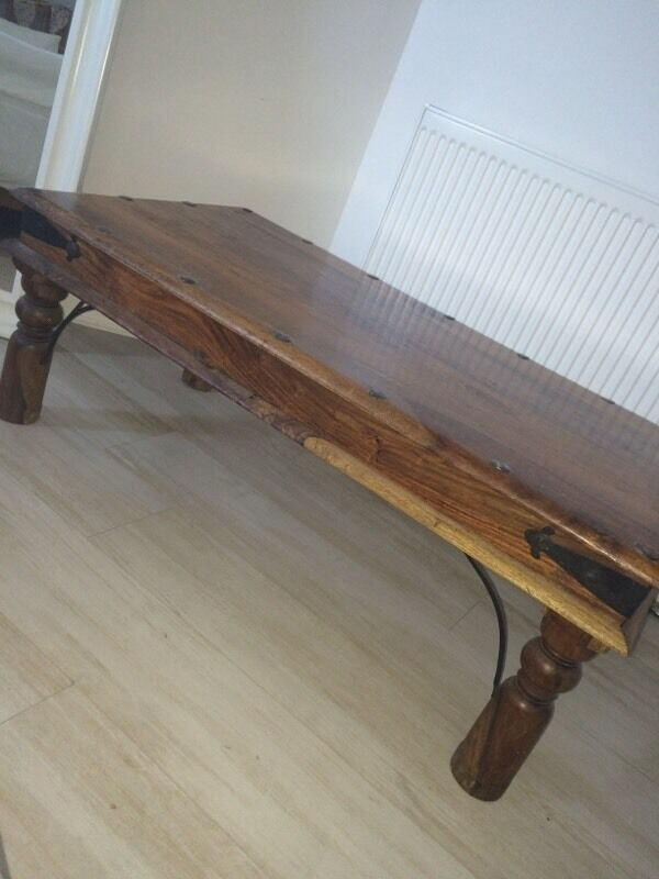 Moroccan style wooden coffee table in west end glasgow for Coffee tables gumtree london