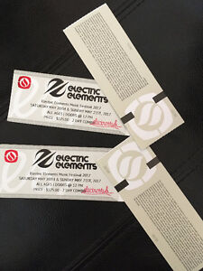 Electric Elements Music Festival GA and VIP Hard Copy Tickets
