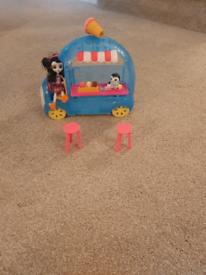 Enchantamel Dolls , log cabin Tree house and Ice cream van.