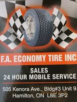 NEW AND USED TIRES, RIMS PACKAGE