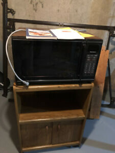 Microwave oven with stand and user manual