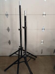 ULTIMATE SUPPORT TS-80B SPEAKER STANDS - SOLD AS A PAIR -