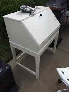 White - Folding Top Desk