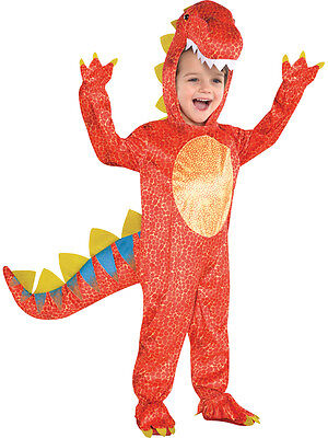 Child Boys Dinomite Dinosaur T Rex Kids Fancy Dress Halloween Costume Ages 3-9 (Boys T Rex Costume)