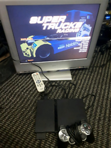 """PS1 slim SCPH-70012 with 23""""lcd tv"""