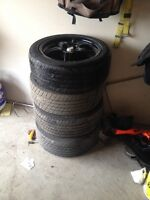 Msr rims with 215/50 R17 luxury touring tires and rims