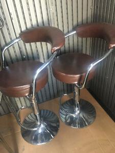 2 Brown Bar Chair