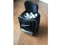 Golf ball bag and practice balls
