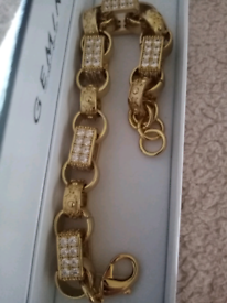 Gold filled luxury xxl gypsy belcher bracelet new 8to9inches 90grams