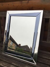 NEW FRAMELESS MIRROR WITH BLACK INLAY