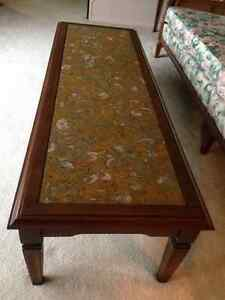 Coffee Table - Solid Maple & Marble