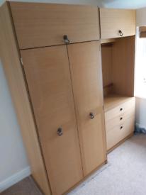 Wardrobe along with Dresser
