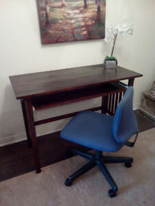 Stylish Expresso Desk with Comfy Chair Can deliver