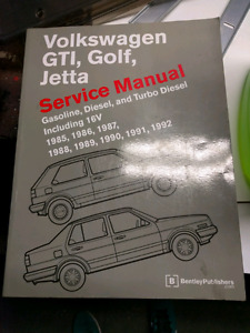 VW GTI, Golf, Jetta Bentley manual 1985-1992