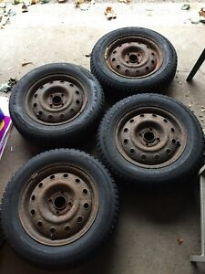 NEW PRICE 185/65/R14 WINTER TIRES FOR SALE!!!! Kitchener / Waterloo Kitchener Area image 1