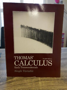 Thomas' Calculus Early Transcendentals Single Variable 12th Edt