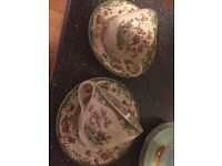 Spode tea for two tea cups and saucers antique collectable