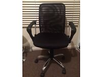 Mesh-backed, professional office chair in perfect condition