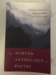 UofT ENG201Y1 The Norton Anthology of Poetry 5th Edition