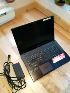 """Portable Acer Aspire V3, Intel i7, 128 Go SSD, Écran 17.3"""" FHD"""