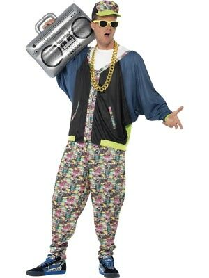 80's Hip Hop Adult Mens Smiffys Fancy Dress Costume - 80 Hip Hop Clothes