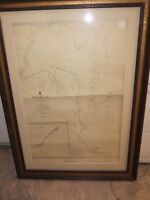 LARGE Picture Frame for Cottage  Nautical Charts Maps Prints