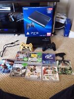 Mint Condition PS3 with 11 Games 2 Controllers