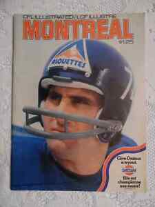 1974 CFL MONTREAL ALOUETTES PROGRAM Cambridge Kitchener Area image 1