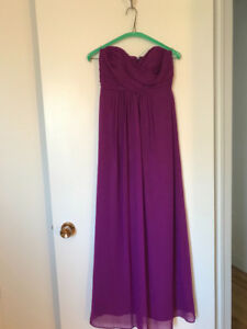 Beautiful fuschia bridesmaid dress