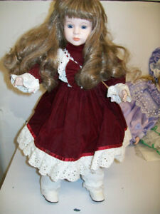 CHSN Handcrafted Porcelain Musical Collector Doll 16""